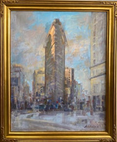 The Flat Iron, original 30x24 NYC impressionist landscape