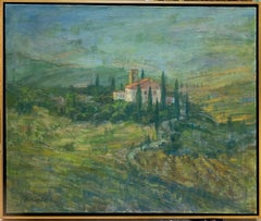 Tuscany Hills, original 30x36 Italian impressionist landscape