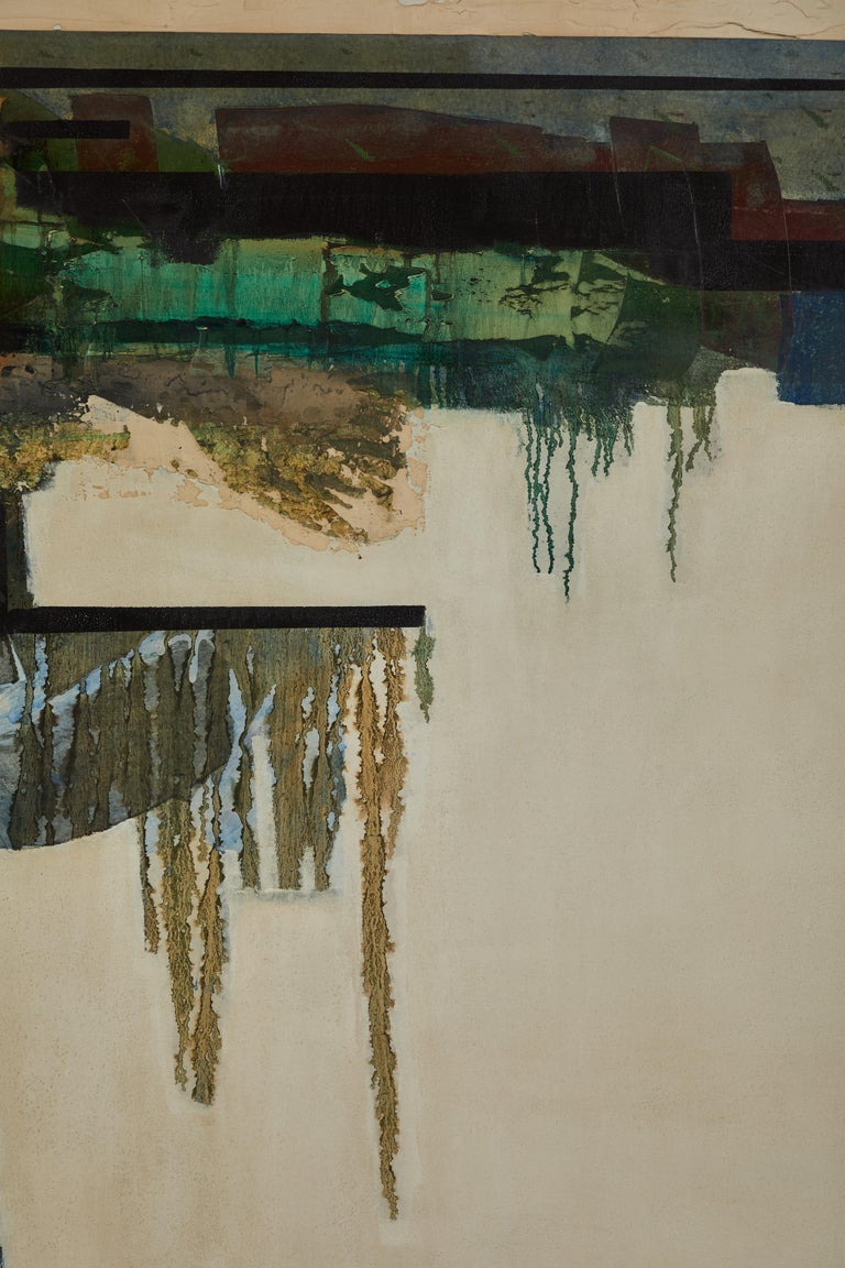 Bart Miller 1969 Mixed-Media Painting In Good Condition For Sale In Los Angeles, CA