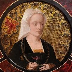 Portrait of Archduchess Margaret of Austria, 16th Century Oil Old Master