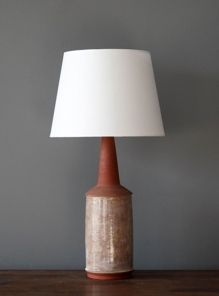 A table lamp produced and design by Bartholdy, Denmark, 1960s. Hand signed.