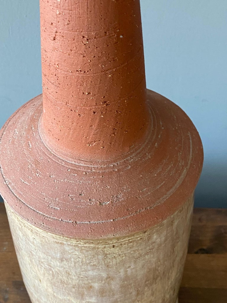 Bartholdy, Sizable Table Lamp, Semi Glazed Stoneware, Denmark, 1960s In Good Condition For Sale In West Palm Beach, FL
