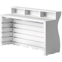 Bartolomeo Desk in White Polyethylene by JVLT/Joe Velluto for Plust