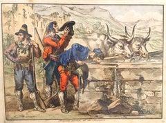 Briganti Assetati - Etching by Bartolomeo Pinelli - 1820