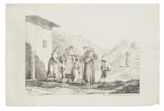 Prayers - Lithograph by Bartolomeo Pinelli - 19th Century