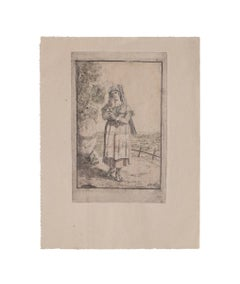 Roman Costume - Original Etching by Bartolomeo Pinelli - 1831