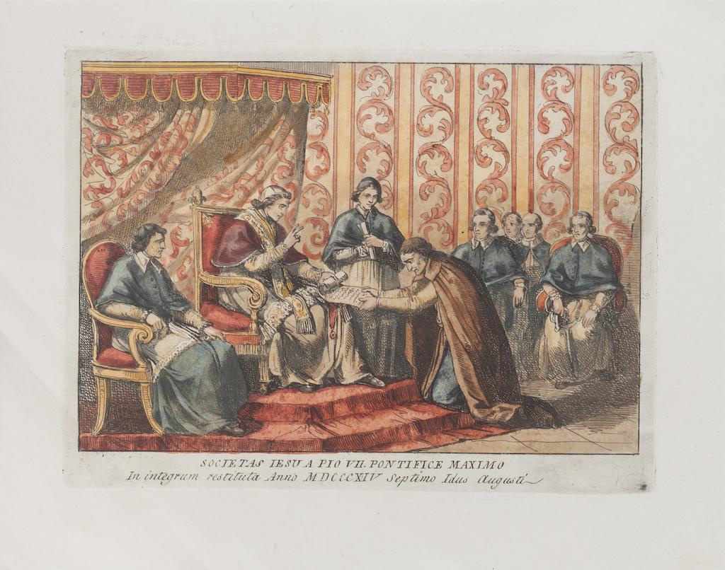 The Pope - Original Etching after Bartolomeo Pinelli - 1850