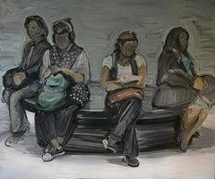 Four - Women Portrait, Large Format, Contemporary Expressive Oil Painting