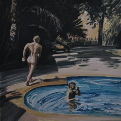 Summer 2 - Contemporary Expressive, Figurative Oil Painting, Male Nude Series