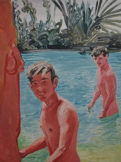 Summer 6 - Contemporary Expressive, Figurative Oil Painting, Male Nude Series