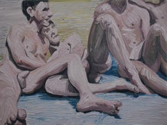 Summer 8 - Contemporary Expressive, Figurative Oil Painting, Male Nude Series