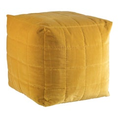 Baruna Yellow Pouf by Badari
