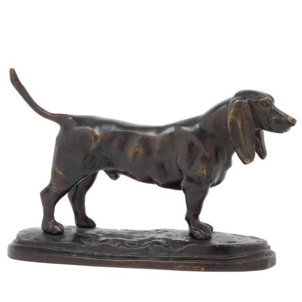 Barye, Dachshund Bronze Dog, France, 20th Century