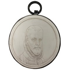 Bas Plaster Relief with Iron Frame