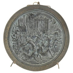 Bas Relief Medallion, Called the Removal of the Sabines, Period Charles X