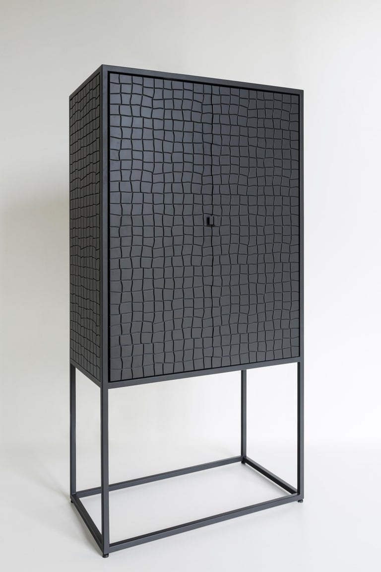 The drinks cabinet created by the award winning designer, Gustavo Martini, was conceived with a reference to
