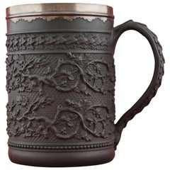 Basalt Cider Mug with Sheffield Plate Rim, Wedgwood, circa 1790