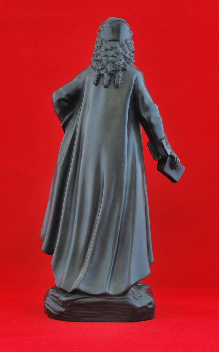English Basalt Figure, Voltaire. Wedgwood, circa 1820 For Sale