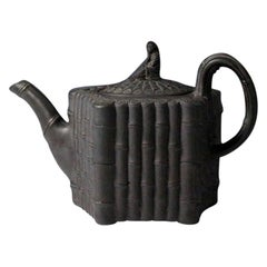 Basalt Teapot with Faux Bamboo Decoration the Cover with a Finial of Sibil