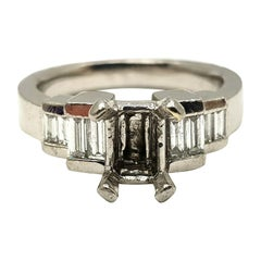 Bashcura Platinum Ring Mounting with 8 Diamonds 0.54 Carat