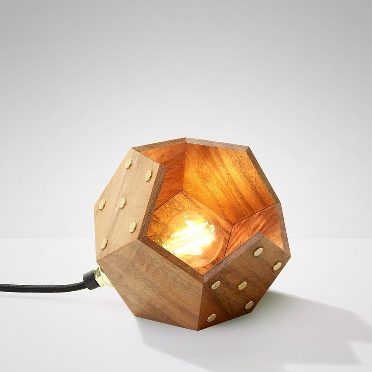 Basic Twelve Solo Walnut Pendant Lamp by Plato Design In New Condition For Sale In Milan, IT