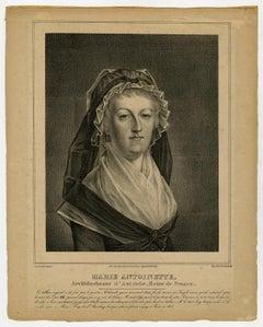 Portrait of Marie Antoinette by Basile de Loose - Lithograph - 19th Century