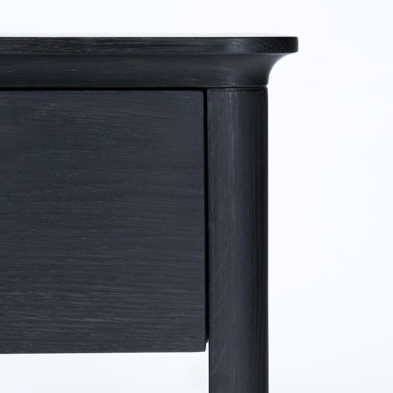 Modern Basin Side Table Nightstand by Tretiak Works, Contemporary Wood Oak Nightstand For Sale