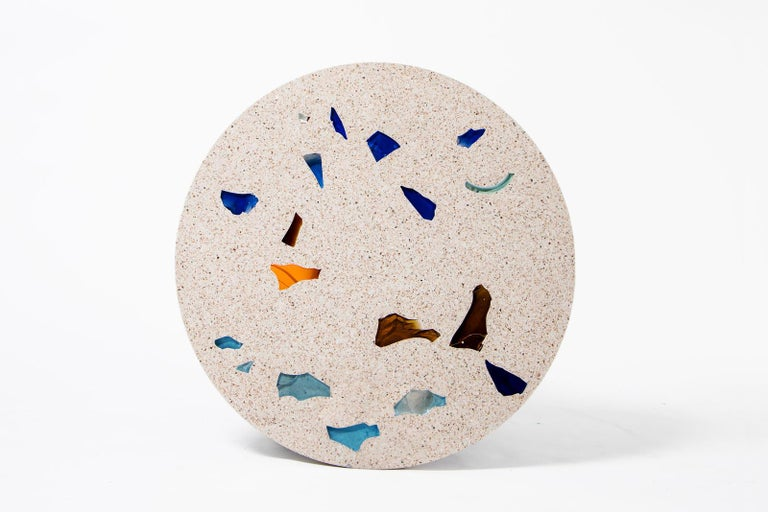 Modern Basis Rho Customizable Round Neoterrazzo Dining Table by Studio Jeschkelanger For Sale