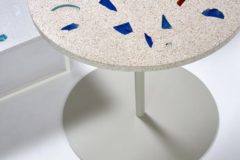 Basis Rho Customizable Round Neoterrazzo Dining Table by Studio Jeschkelanger In New Condition For Sale In Brooklyn, NY