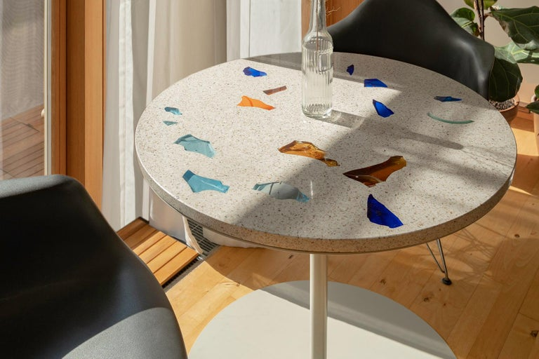 Contemporary Basis Rho Customizable Round Neoterrazzo Dining Table by Studio Jeschkelanger For Sale