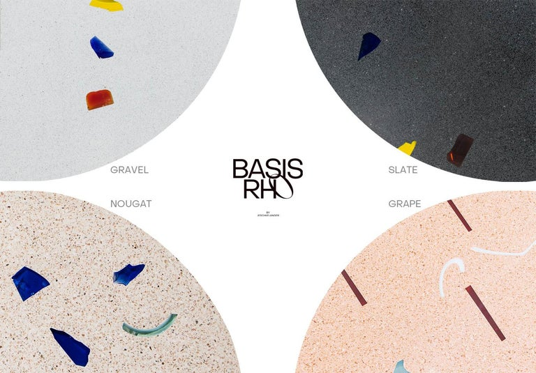 Basis Rho Customizable Round Neoterrazzo Dining Table by Studio Jeschkelanger For Sale 1