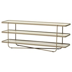 Bask Brazilian Contemporary Outdoor Metal Bookcase by Lattoog