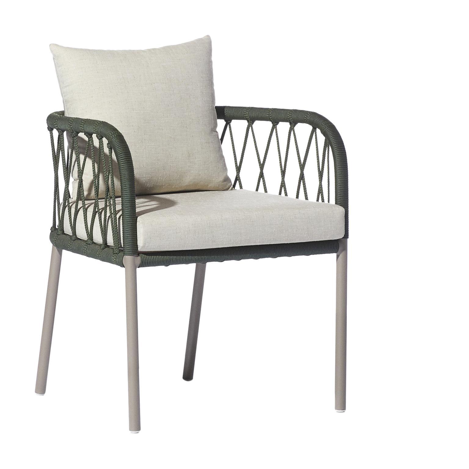 Bask Brazilian Contemporary Outdoor Metal Chair by Lattoog