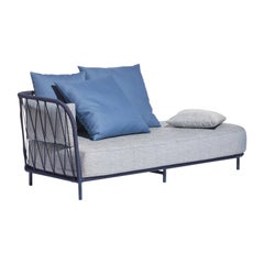 Bask Brazilian Contemporary Outdoor Metal Chaise by Lattoog