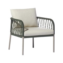 Bask Brazilian Contemporary Outdoor Metal Compacted Armchair by Lattoog