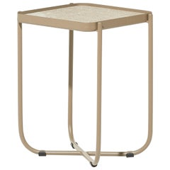 Bask Brazilian Contemporary Outdoor Metal Corner Table by Lattoog