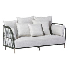 Bask Brazilian Contemporary Outdoor Metal Sofa by Lattoog