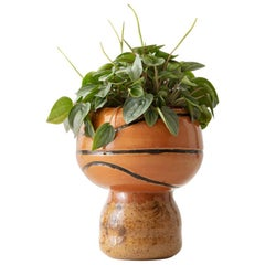 Basketball Love Handmade Stoneware Planter Unique Edition
