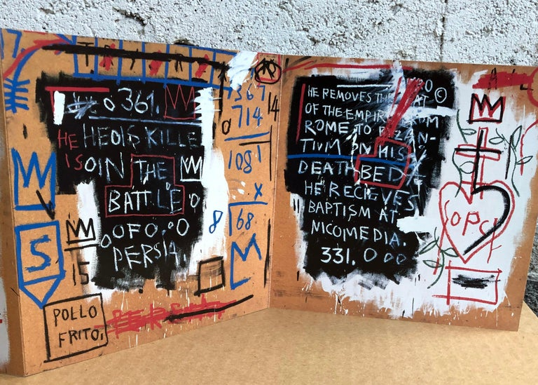 Late 20th Century Basquiat Gallery Announcement Cards, 'Set of 2'