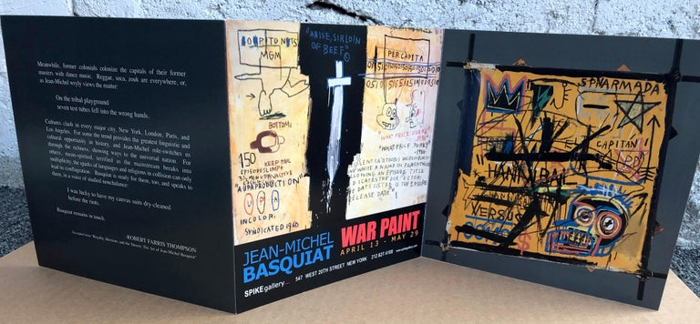 Basquiat Gallery Announcement Cards, 'Set of 2' 1