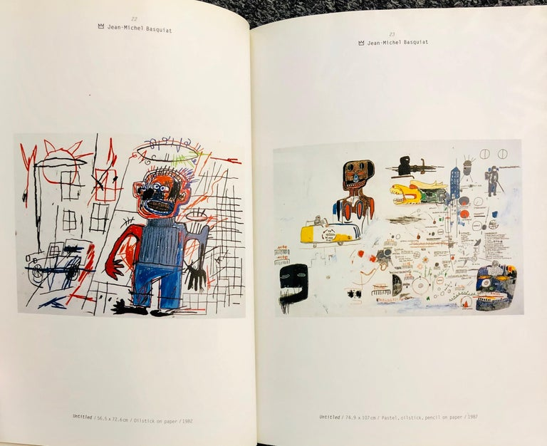 Basquiat Haring & Kenny Scharf at Lio Malca: Rare 1990s hardcover catalogue featuring works by Jean-Michel Basquiat, Keith Haring, & Kenny Scharf's from the Lio Malca Collection  Hardcover, 1998 61 Pages Text: Japanese  8 × 6 inches  Minor