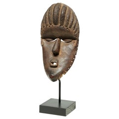 Bassa Tribal Wood Dance Mask with Geometric Features, Early 20th Century, Africa