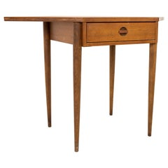 Bassett Mid Century Walnut Corner Table Desk