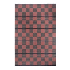 Bastad Red, Modern Dhurrie or Kilim Rug in Scandinavian Design