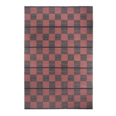 Bastad Red, Modern Dhurrie or Kilim Rug in Scandinavian Design