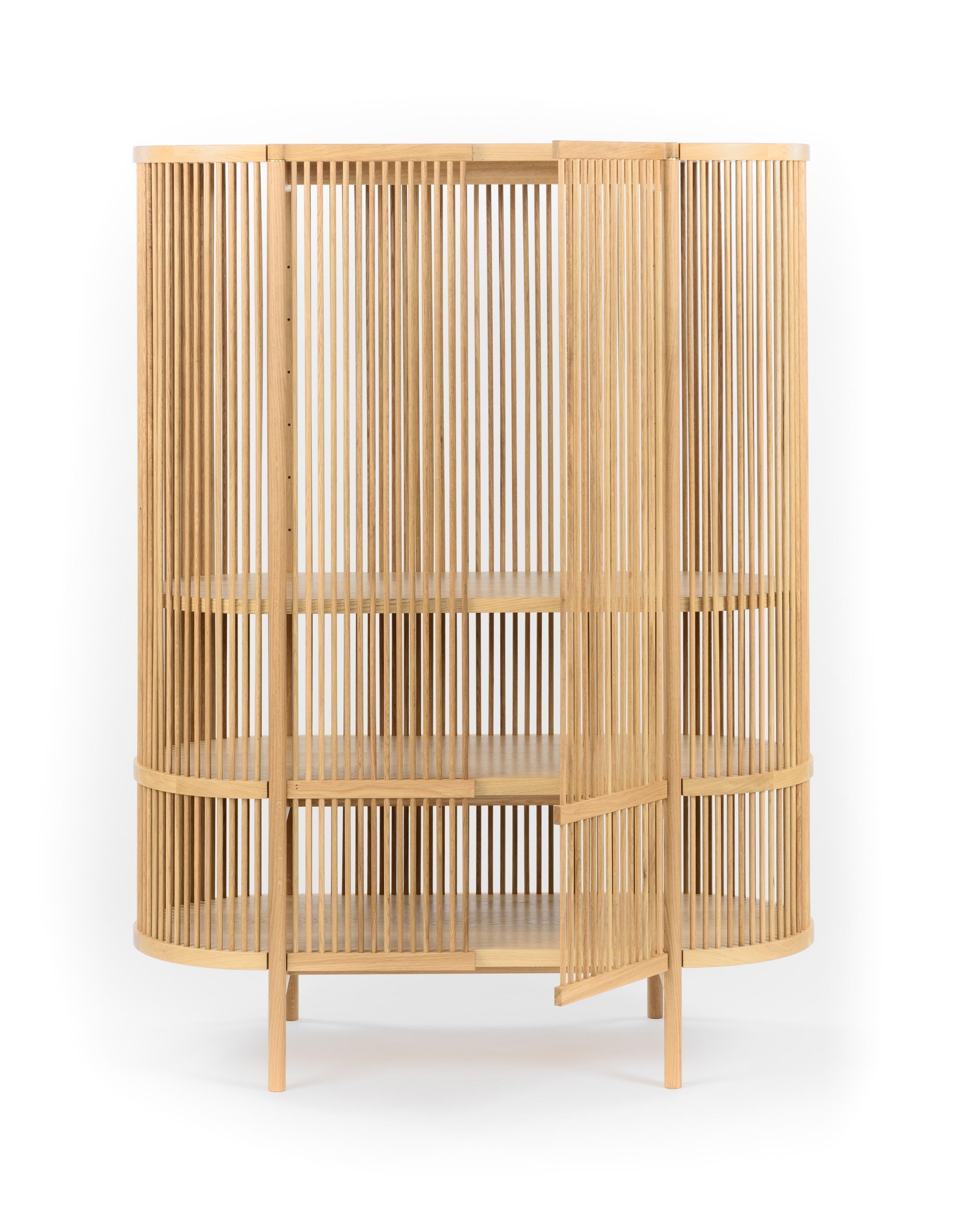 Bastone Cabinet in Oak with Doors