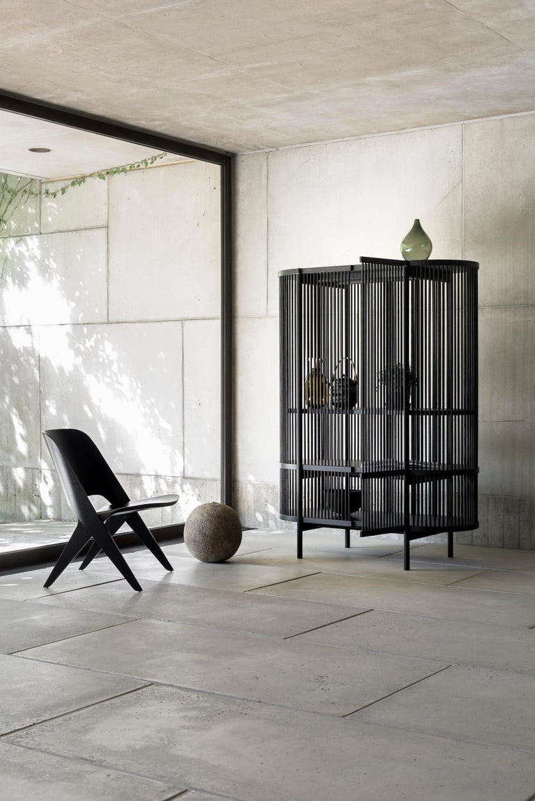 Bastone Cabinet in Black with Doors In New Condition For Sale In Helsinki, FI