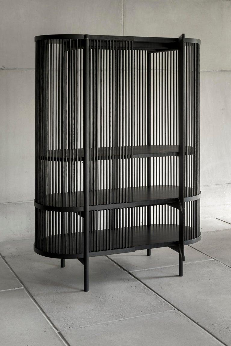 Scandinavian Modern Bastone Cabinet in Oak For Sale