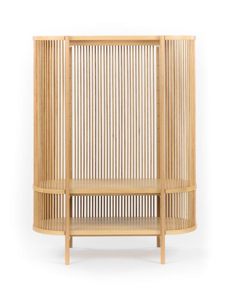 Woodwork Bastone Cabinet in Oak For Sale
