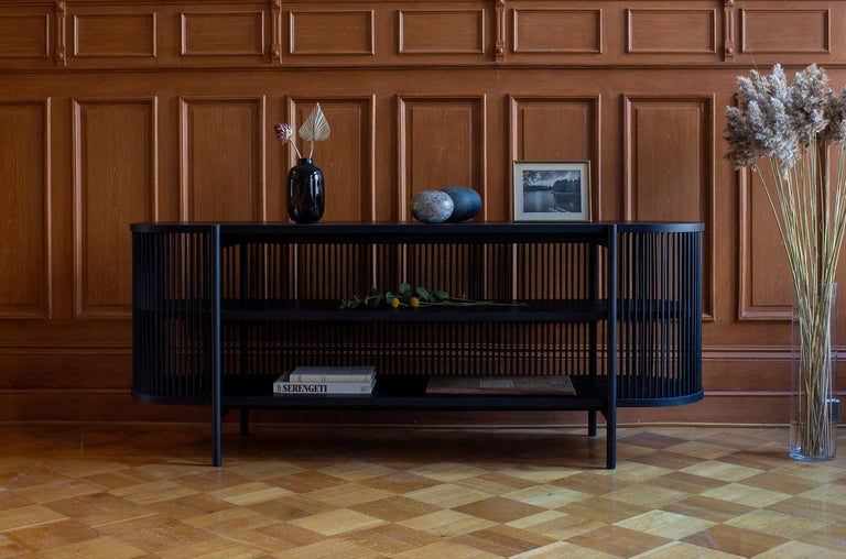 The Bastone case piece collection, which consists of a cabinet and a sideboard, is designed by the master cabinet maker and designer Antrei Hartikainen for Poiat studio. Somewhere on the boundary of art and design, the collection showcases the